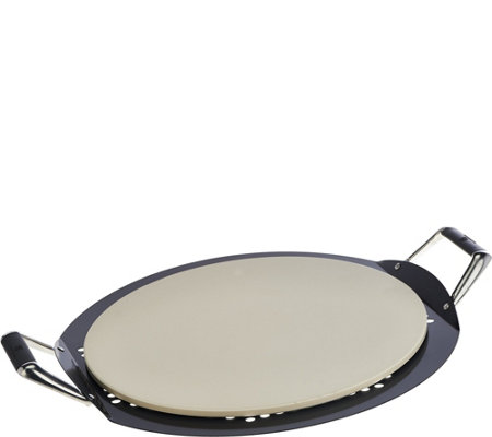 Cook's Essentials 2-piece Pizzeria-Style Stone & Pan Set