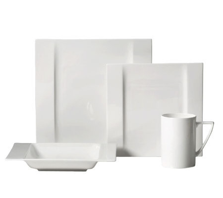 Mikasa Modern White 4-Piece Place Setting