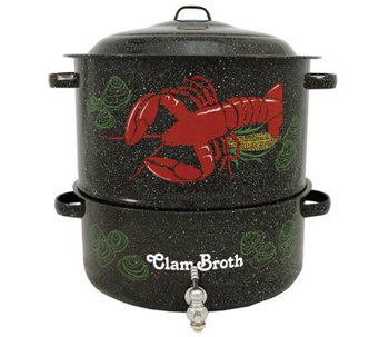 Granite Ware 19-Qt Decorative Lobster Pot and Steamer - K302152