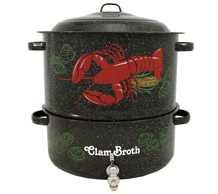 Granite Ware 19-Qt Decorative Lobster Pot and Steamer