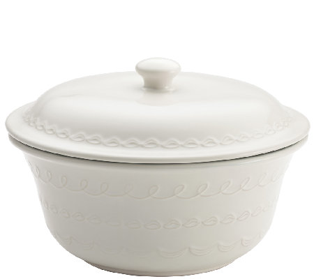 Cake Boss 2.5-Quart Stoneware Covered Round Casserole