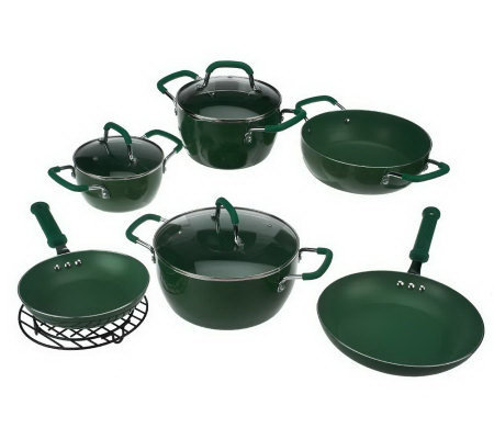 10-Piece ColoredNonstick Cookware Set by MarkCharles Misilli