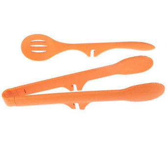 Rachael Ray Lazy Tong and Slotted Spoon Utensil Set - K37452