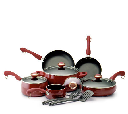 Paula Deen Signature Red 12-pc PorcelainCookware Set