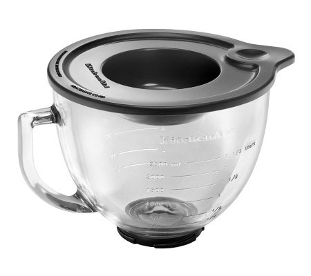 KitchenAid 5-Qt Glass Bowl with Handle and Lid