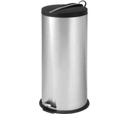 Honey-Can-Do 30L Stainless Steel Step Trash Can