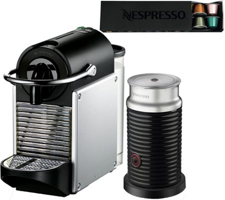 Nespresso Pixie Espresso Machine w/ Milk Frother by DeLonghi