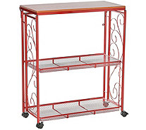 Cook's Essentials 3-Tier Collapsible Storage Cart - K45653