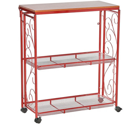 Cooku0027s Essentials 3 Tier Collapsible Storage Cart