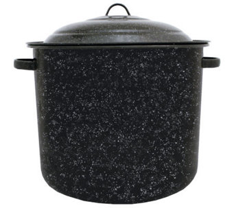 34-qt Porcelain on Steel Stockpot with Lid - K129954