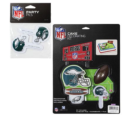 Qvc Cake Decorating Kit : NFL Philadelphia Eagles Cake Decorating Kit   QVC.com
