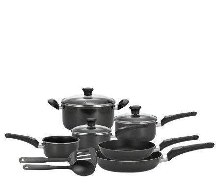 t fal 11 piece nonstick cookware set. Black Bedroom Furniture Sets. Home Design Ideas