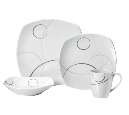 Mikasa Geometric Circles 4-Piece Place Setting
