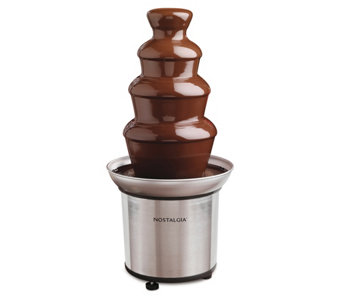Nostalgia Electrics 3-Tier Chocolate Fondue Fountain - K299454