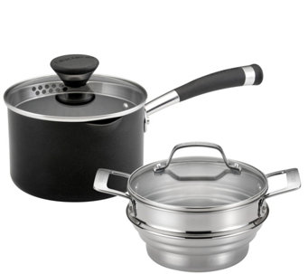 Circulon Acclaim Nonstick 2-qt Straining Steamer Set - K304654