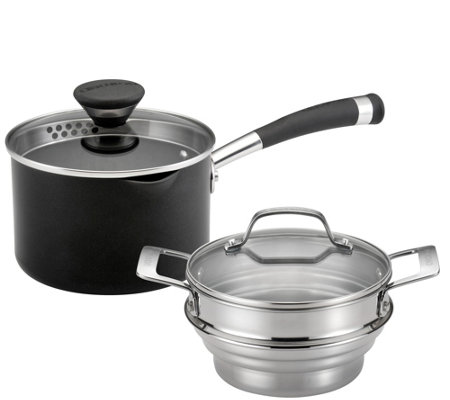 Circulon Acclaim Nonstick 2-qt Straining Steamer Set