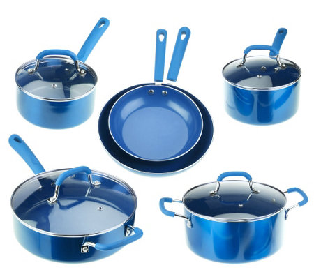 Everyday Kitchen 10 Pc Aluminum Cookware Set W