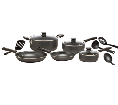 T-Fal Admiration Nonstick 12-Pc Cookware Set -Gray