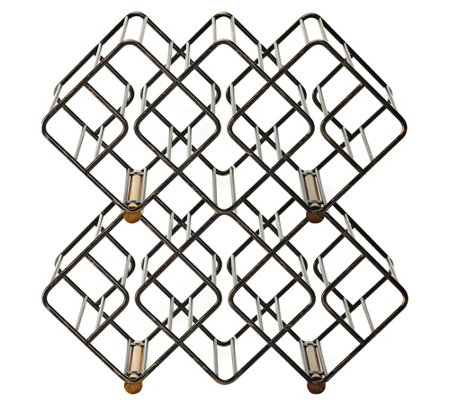 Gourmet Basics by Mikasa Stackable 12 Bottle Wine Rack