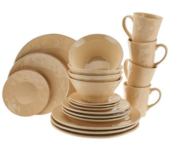 """As Is"" Rachael Ray Garden Sage 20-Piece Service for 4 Dinnerware Set - K307455"