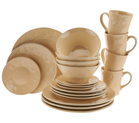 """As Is"" Rachael Ray Garden Sage 20-Piece Service for 4 Dinnerware Set"