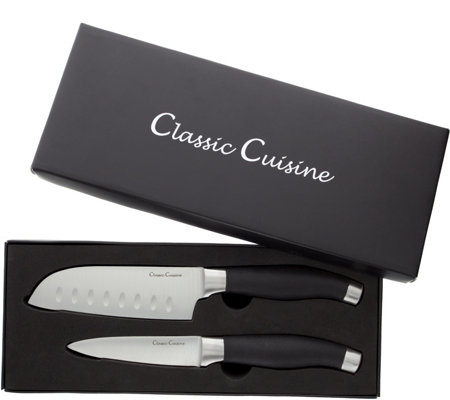 Classic Cuisine Stainless Steel Santoku & Paring Knife Set