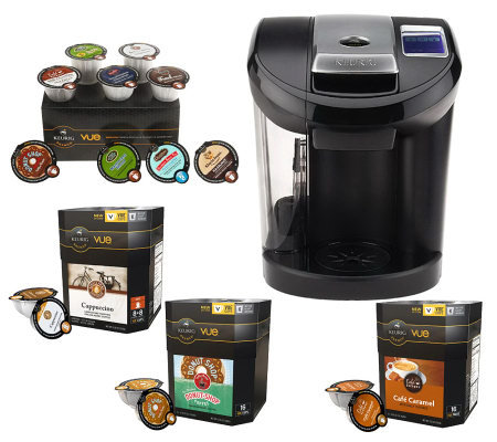 Keurig Vue V600 Brewer w/ 50 Vue Packs & Water Filter