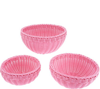 Lock & Lock Set of 3 Round Baskets - K44555