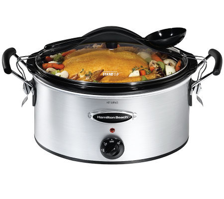 Hamilton Beach 33162RZ Stay or Go 6-Qt Slow Cooker
