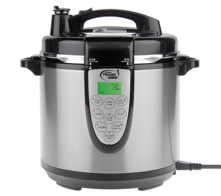 CooksEssentials 9-Function 6qt. Digital Pressure Cooker w/ Accessories - Page 1 — QVC.com