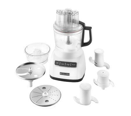 KitchenAid KFP0922WH 9-Cup Food Processor - White