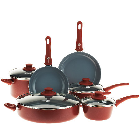 Greenpan 10 Piece Cookware Set With Ceramic Non Stick