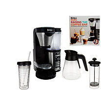 Ninja Coffee Bar Auto-iQ Coffee Maker w/ Glass Carafe & Recipe Book - K43557