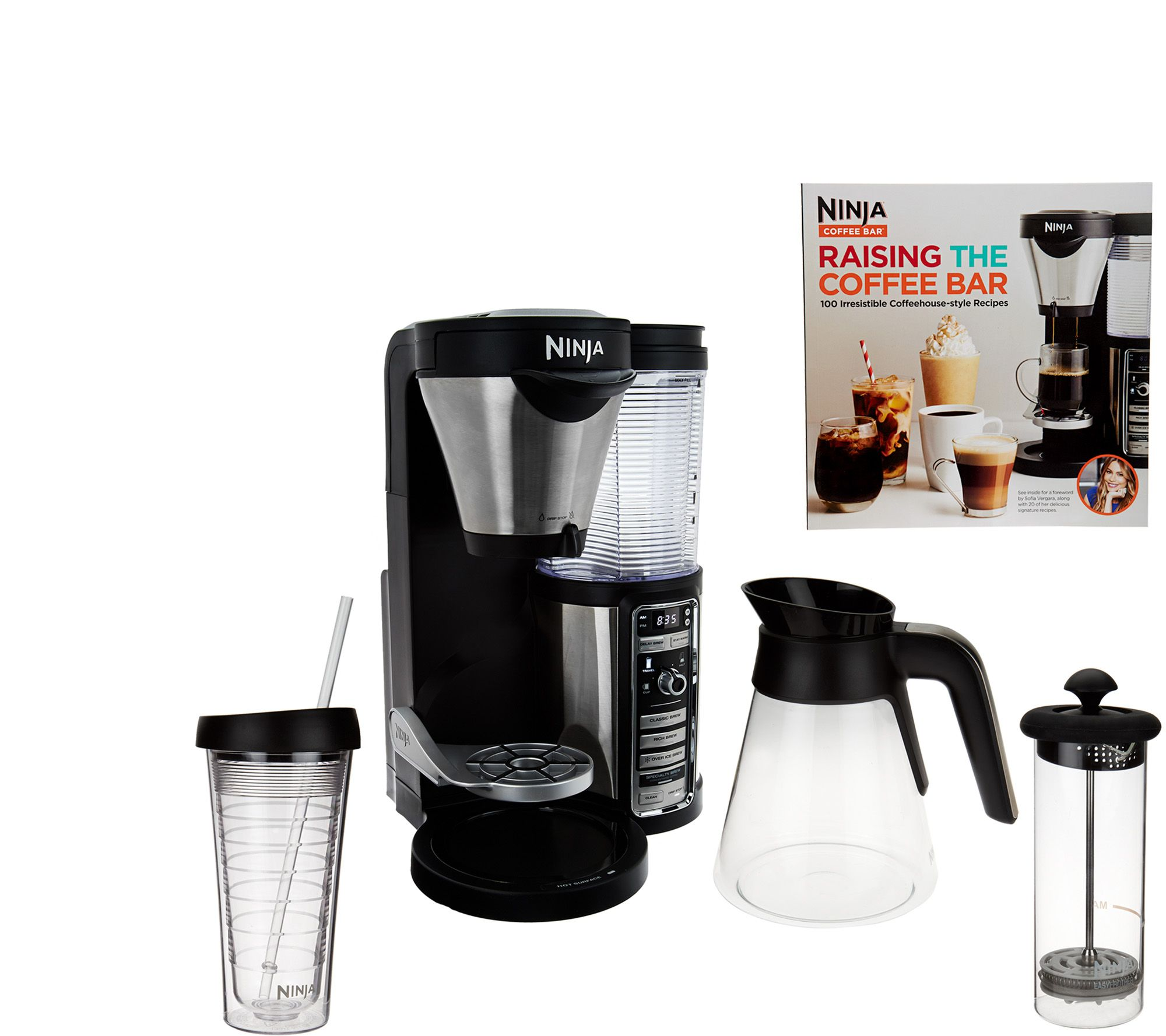 Ninja Coffee Maker Instructions : Ninja Coffee Bar Auto-iQ Coffee Maker w/ Glass Carafe & Recipe Book - Page 1 QVC.com