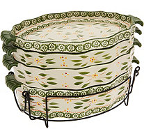 Temp-tations Old World S/3 Scalloped Bakers with Deep Lid-it - K44557