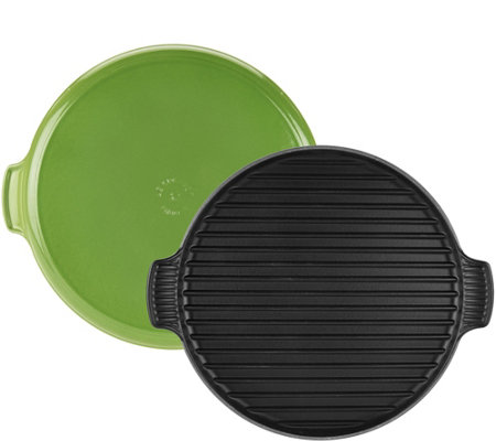 "Le Creuset 12.25"" Round Cast-Iron Grill"