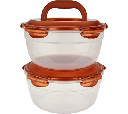 Lock & Lock 2 piece Bowl Storage Set with Handle