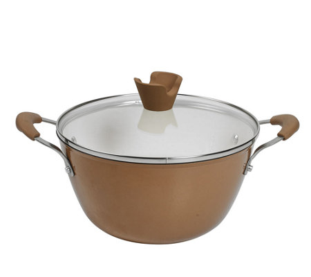 Anna Boiardi 4.4-qt Cast-Iron Enamel Covered Casserole