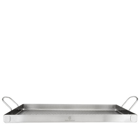 """As Is"" Cooks Essentials Stainless Steel 16""x12"" BBQ Grill Tray"