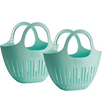 Gourmac Set of 2 Mini Garden Colanders - K306759