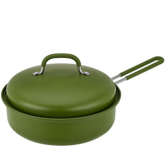 """As Is"" 3qt Covered Round Nonstick BBQ Pan by Mark Charles Misilli - K307559"