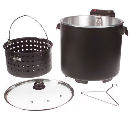 Masterbuilt 28qt Cool Zone Electric Turkey Fryer with Glass Lid