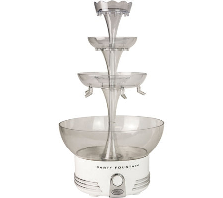 Nostalgia Electrics Deluxe Lighted Beverage Party Fountain