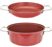 Cook's Essentials 4 qt. 2-in-1 Lightweight Cast Iron Pan - K46159