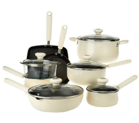 CooksEssentials Hardcoat Enamel II Nonstick 13-pc. Cookware Set