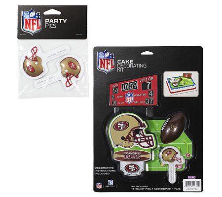 Qvc Cake Decorating Kit : NFL San Francisco 49ers Cake Decorating Kit   QVC.com