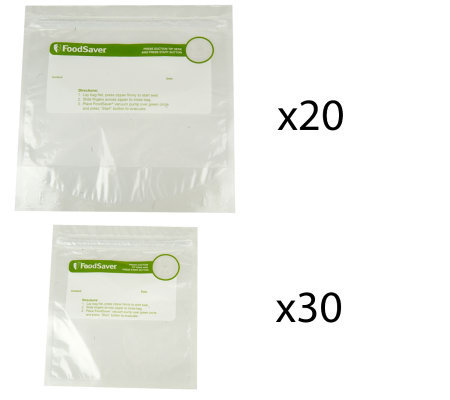 Foodsaver 30 Quart and 20 Gallon Zip Top Bags