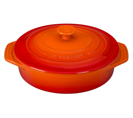 "Le Creuset Signature 9.5"" Covered Round Stoneware Dish"