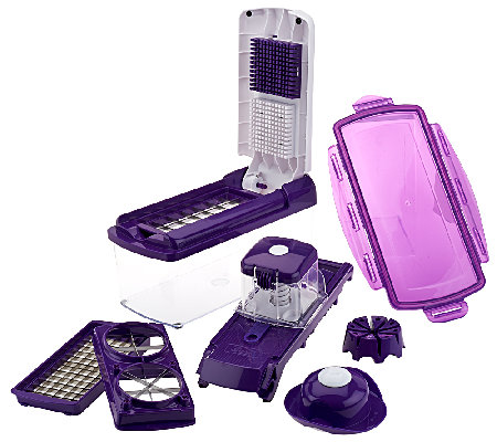 genius nicer dicer fusion 10 pc 10 cup multi chopper set page 1. Black Bedroom Furniture Sets. Home Design Ideas