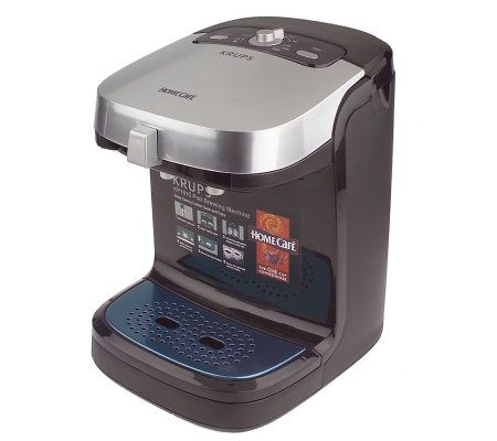 Krups Home Cafe Dual Pod Coffee / Tea Brewing Machine w/ 16 Pods QVC.com